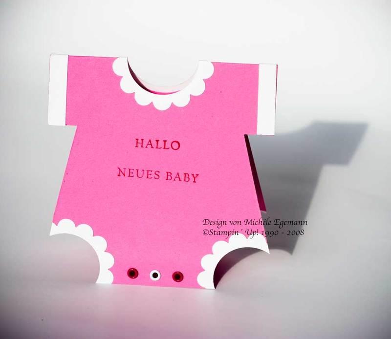 Babykarte mit Stempelset Grundbegriffe