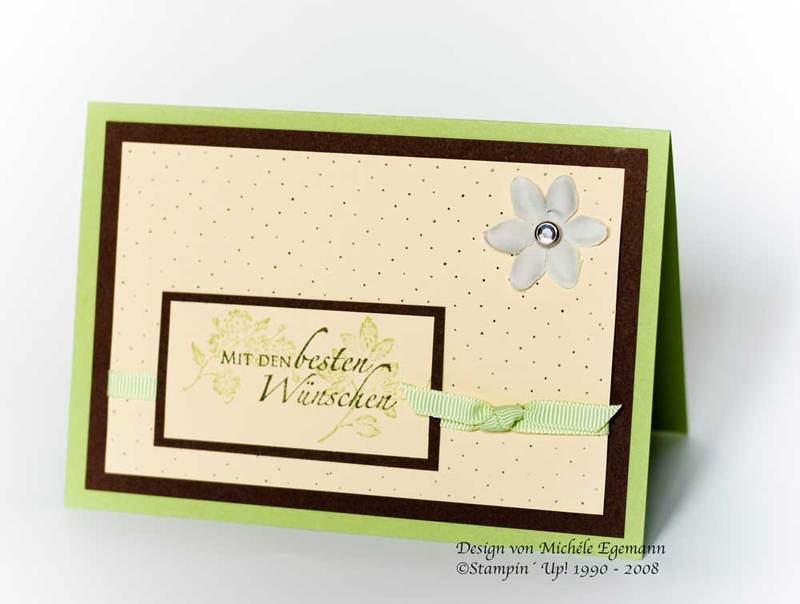 Karte mit Stempelset Carte Postale von Stampin' Up!