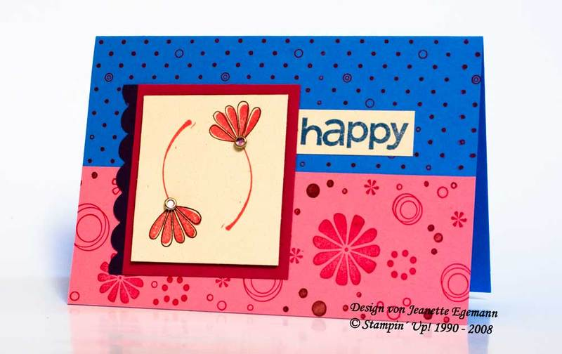 Karte Happy mit Stampin' Up!
