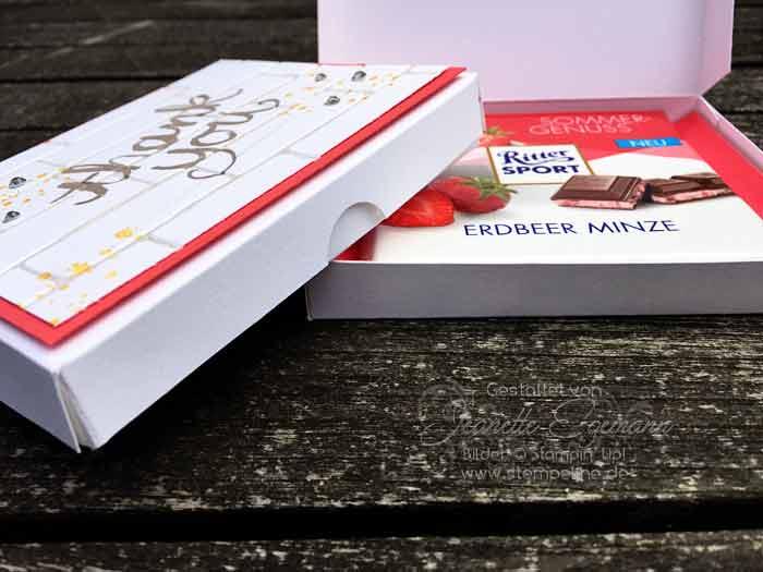 Bekannt Video - Anleitung Verpackung basteln für Schokolade HL72