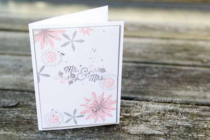 Stampin Up Hochzeitskarten Mit Flower Patch Stempeline