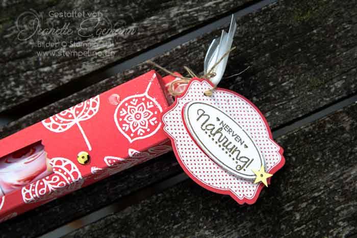 Schokoladenverpackung mit Anleitung für Schokostangen