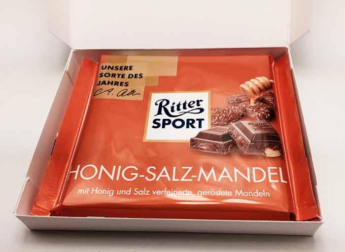Schokoladenverpackung basteln Ritter Sport