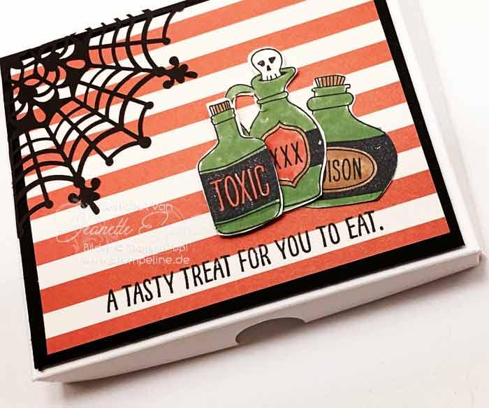 Schokoladenverpackung basteln Halloween