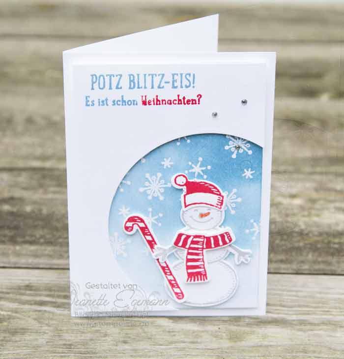 Schneemann Weihnachtskarte mit der Big Shot