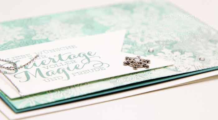 Weihnachtskarten Stampin Up Flockenzauber