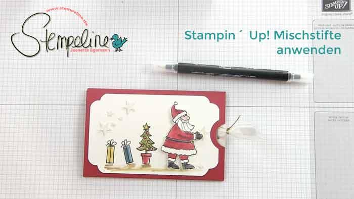Mischstifte Stampin Up anwenden