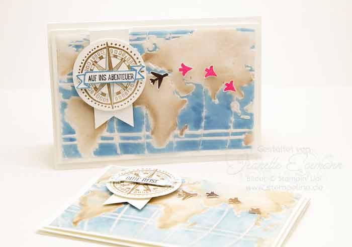 Prägeform Weltkarte