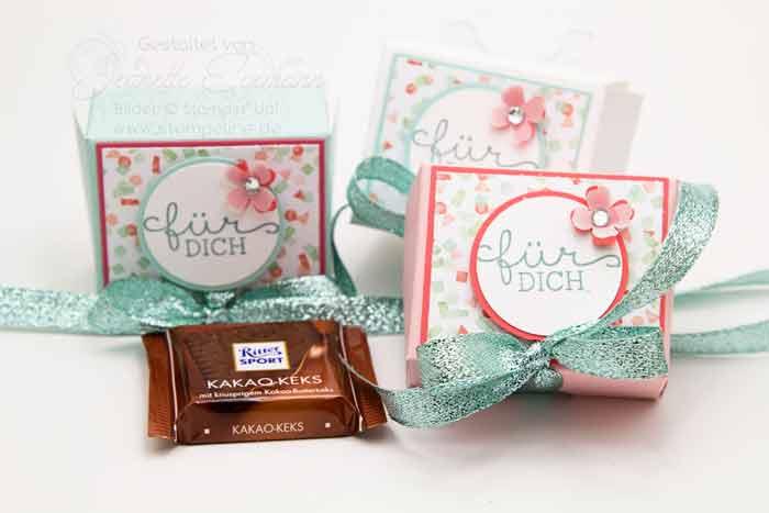 Häufig Video: Schoki Verpackung basteln für 3 Mini-Tafeln Schokolade FO84