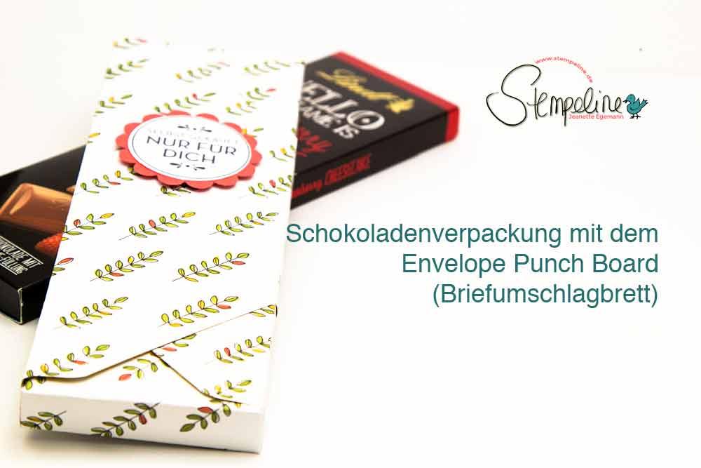 Schokoladenverpackung Envelope Punch Board