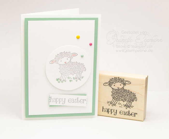 Stampin Up Osterkarten Easter Lamb