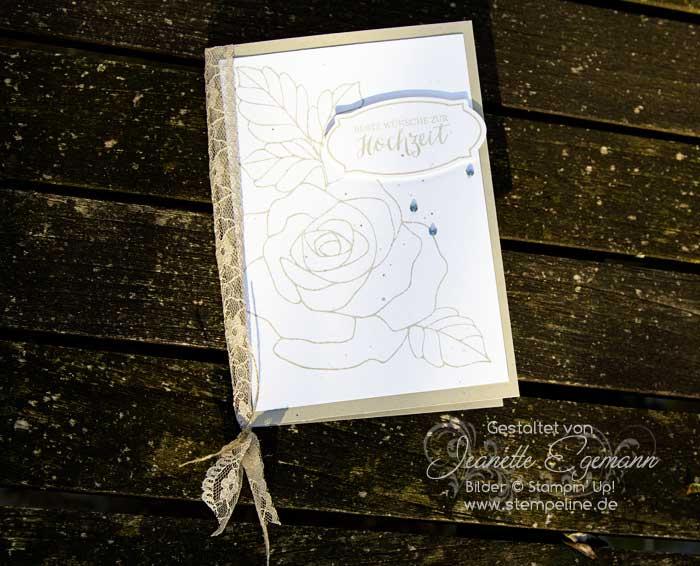 Rosenzauber Hochzeit Glückwunschkarte Stampin Up