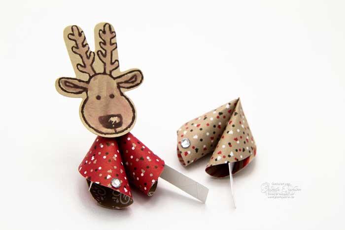 Weihnachtliche Glückskekse aus Made in Paper