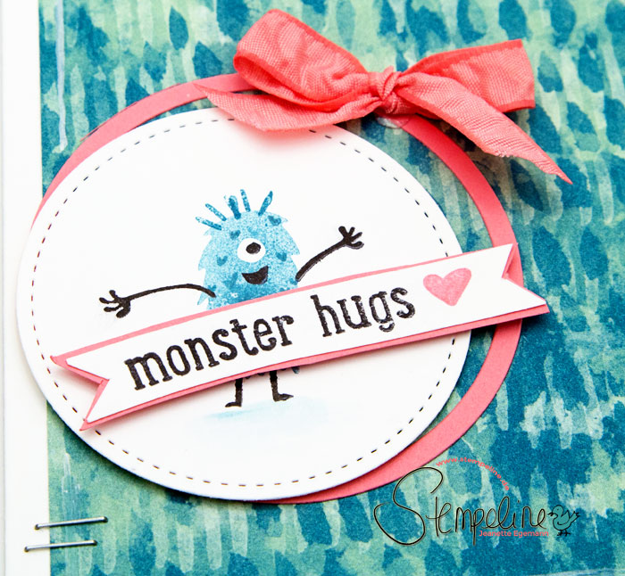 Stampin up Monster