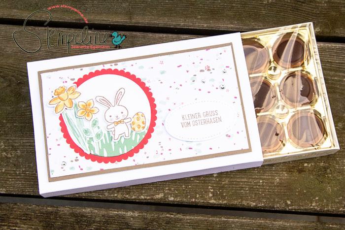 Osterkörbchen Geschenk Verpackung für Toffifee