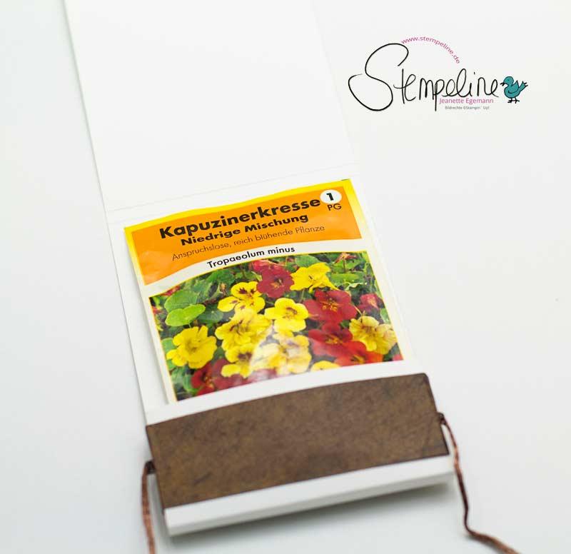 Blumensamen Verpackung selbst gebastelt mit Stampin' Up!