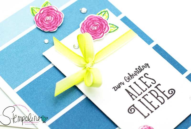 Vorschau Geburtstagskarte mit Stempelset Alles Liebe, Geburtstagskind von Stampin Up