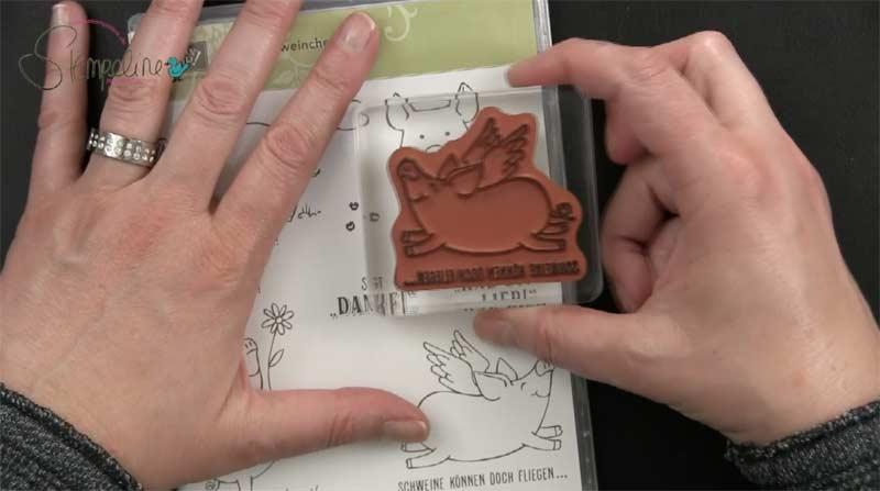 Motivstempel Stampin Up Schweinchen