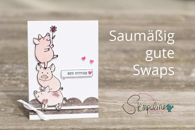 Stampin' Up! Swaps Glüksschweinchen