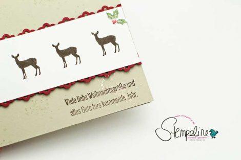 Weihnachtskarte mit Rentieren aus dem Stempelset Wie ein Weihnachtslied
