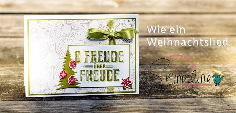 Weihnachtskarte mit Stempelset Wie ein Weihnachtslied von Stampin' Up!