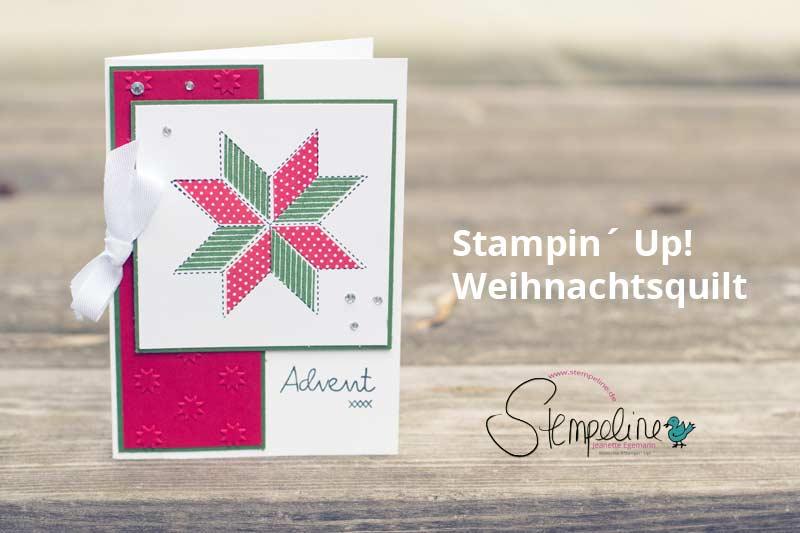 Weihnachtskarte Weihnachtsquilt Stampinup