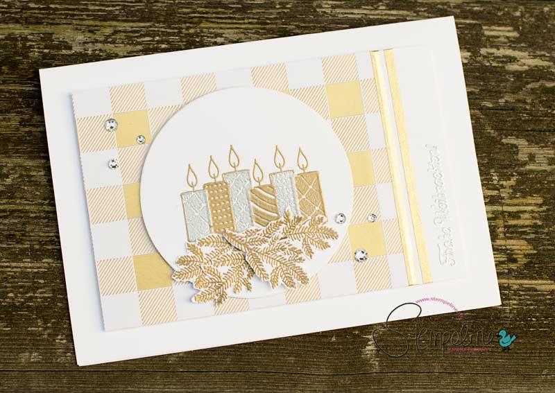 Weihnachtskarte mit Stempelset Freude im Advent von Stampin' Up!