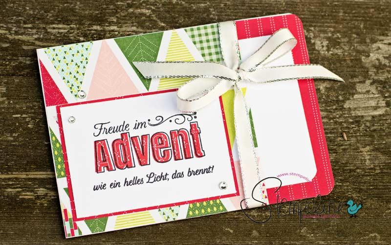 Weihnachtskarte Freude im Advent