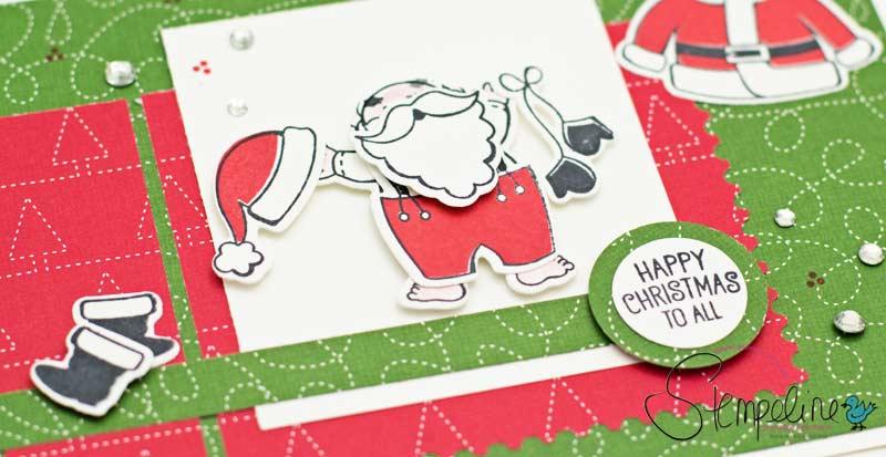 Weihnachtskarte Santas Suit