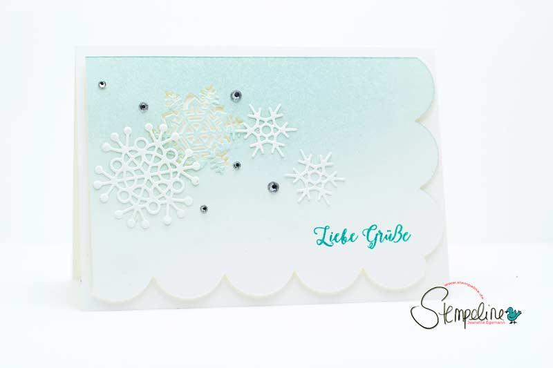 frostige Karte mit Thinlits Schneeflocken von Stampin´ UP!
