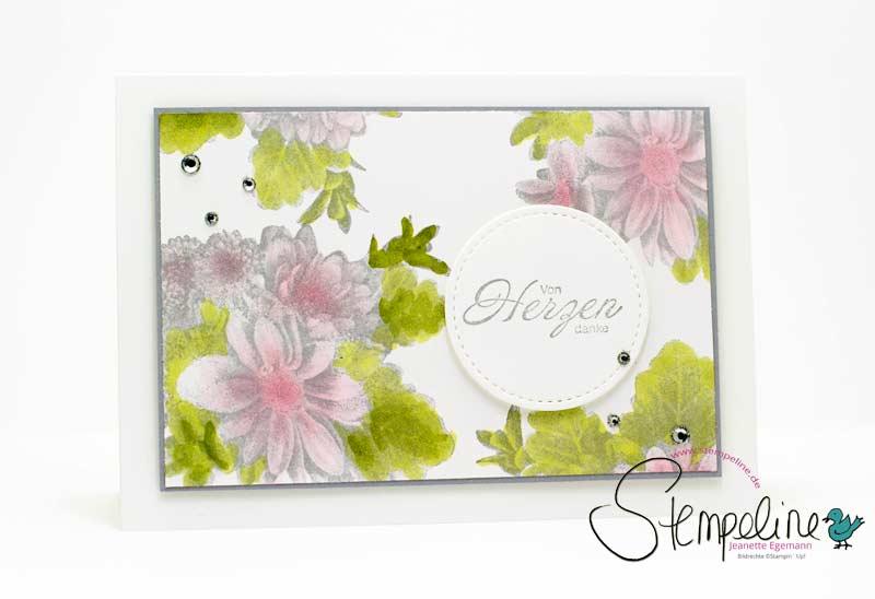Karte mit Stempelset Blumen von Herzen von Stampin' Up!