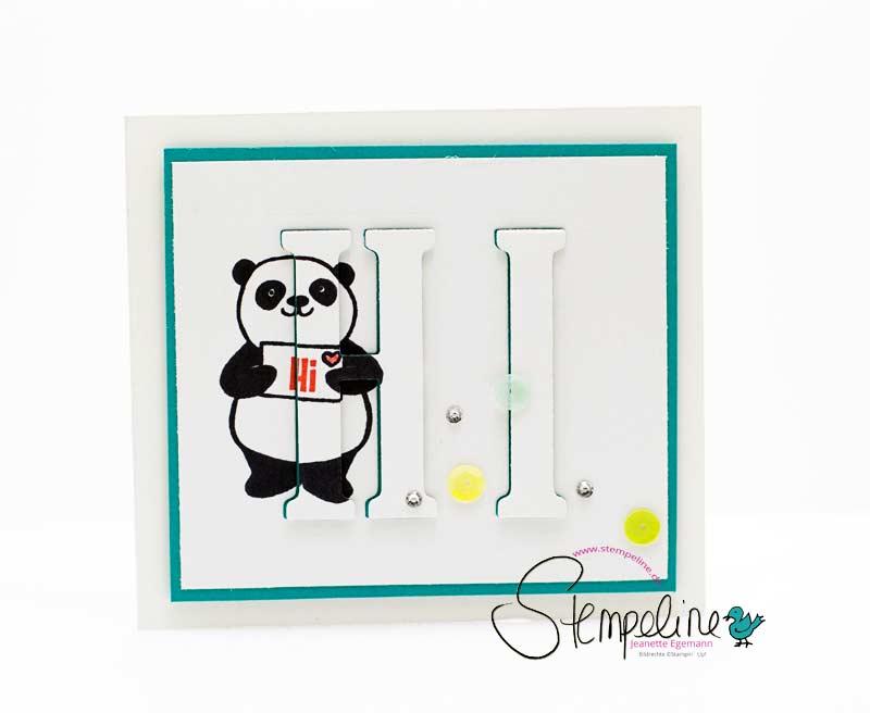 Karte mit Stempelset Party Pandas von Stampin' Up!