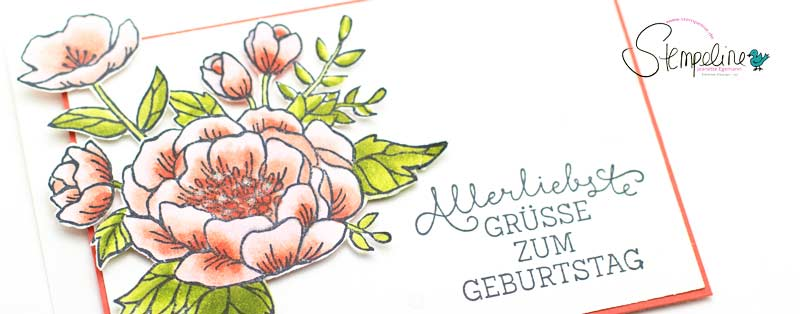 Geburtstagsblumen mit Stampin´ Blends
