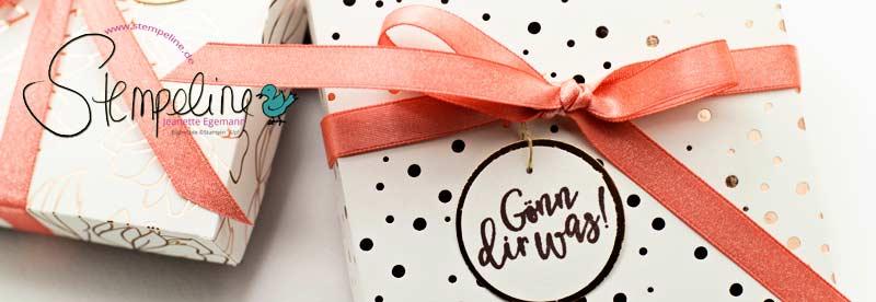 Banner DIY Pralinen Geschenkverpackung