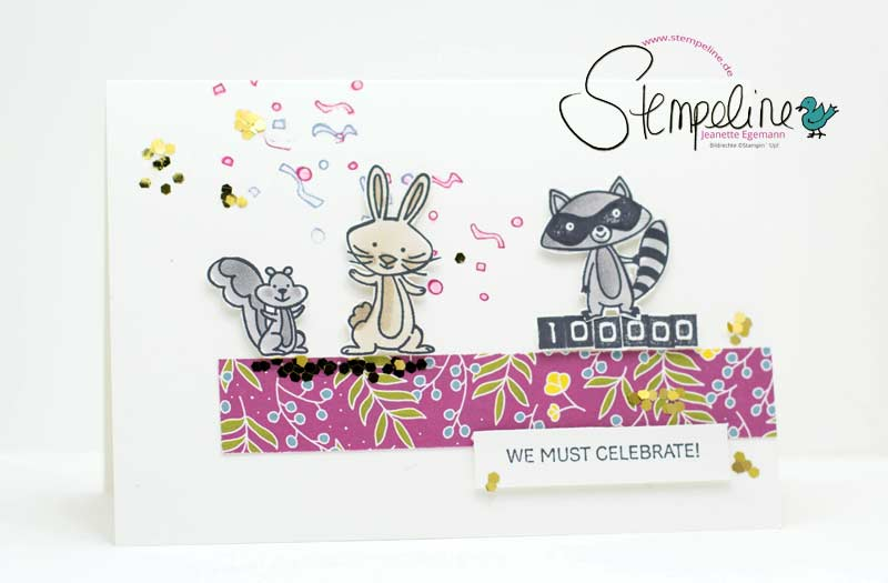 Karte We must Celebrate Stampin' Up!