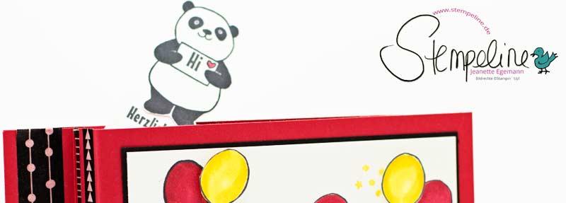 Banner WIper Card Anleitung mit Party Pandas von Stampin' Up!