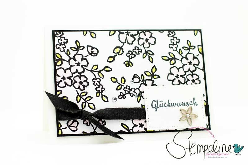 Karte mit Stempelset Blütentraum von Stampin' Up!