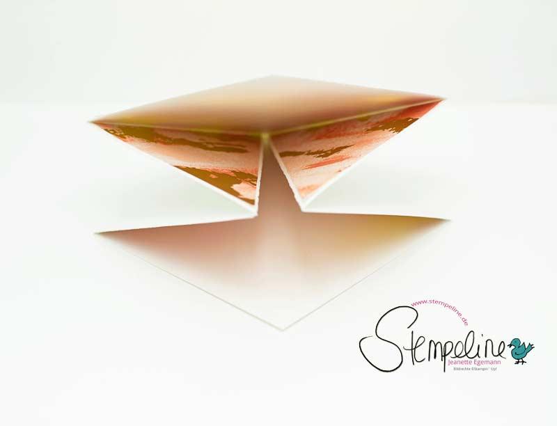 Seitenansicht Quadratische Origami-Karte