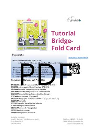 PDF Thumbnail Bridge Fold Card Party Pandas