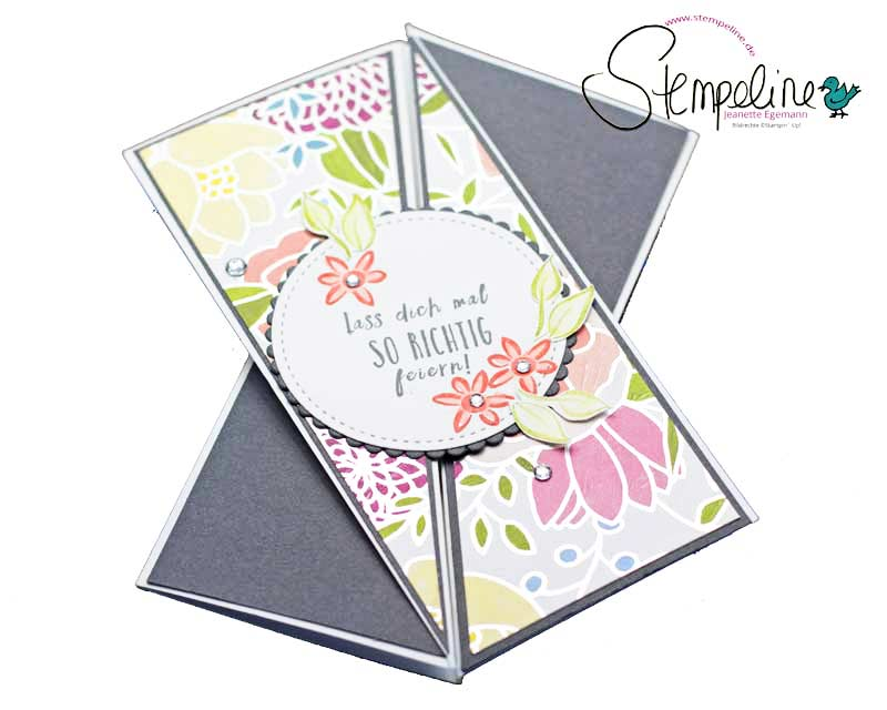 Triangle Tri-Fold Karte mit Stampin' Up!