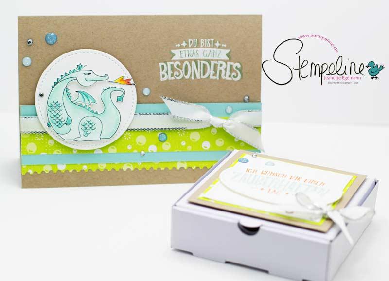 Geschenkset Karte und Verpackung mit Stempelset Zauberhafter Tag von Stampin' Up!