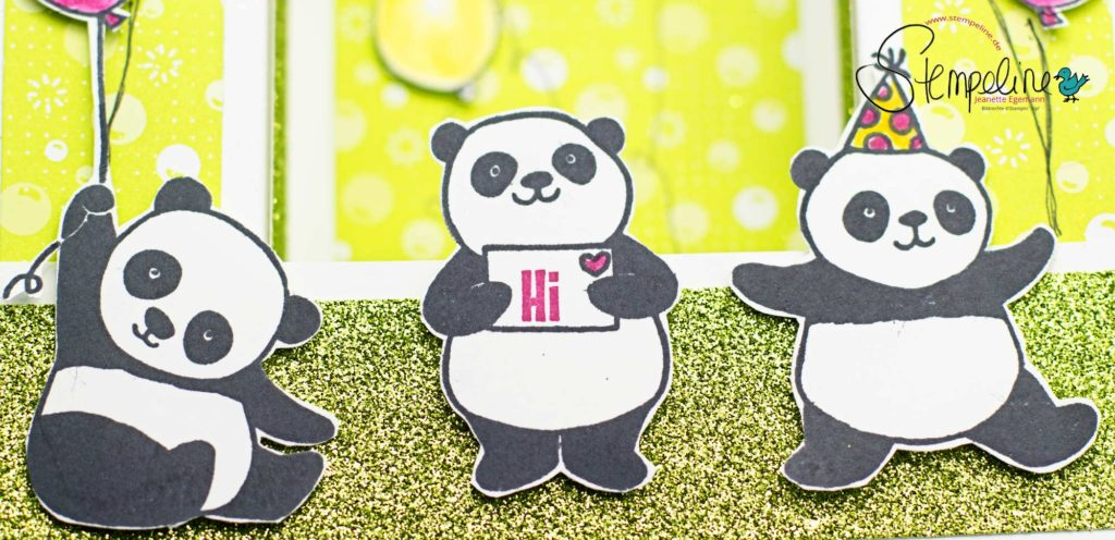 Banner Party Pandas Bridge Fold Card Stampin´Up!