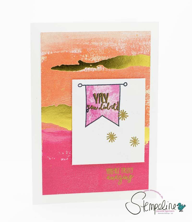 Karte Yay You mit Gastgeberinnen Stempelset von Stampin' Up!
