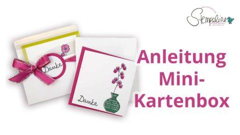 Anleitung Mini Kartenbox Wunderbare Vasen von Stampin' up!