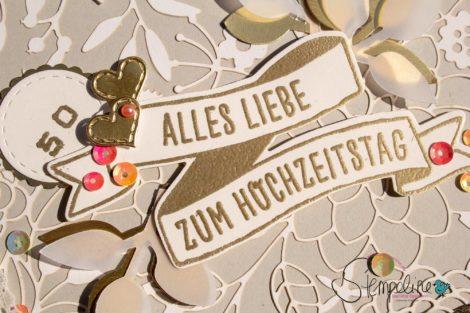 Karte zur Goldenen Hochezeit Stampin' Up!