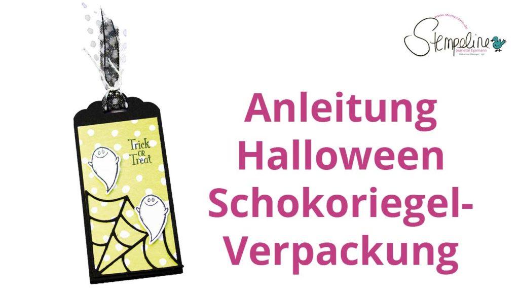 Titelbild Schokoriegel Verpackung zu Halloween