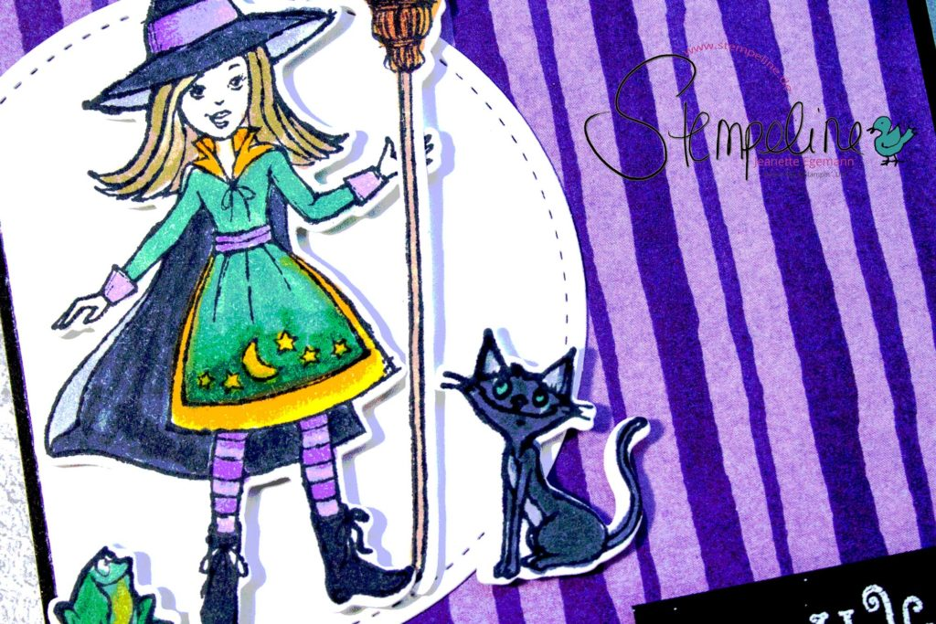 Halloween 2018 - Vorschau Karte Caldron Bubble Stampin' up!