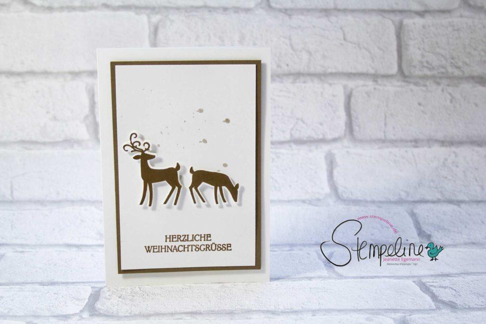 weihnachskarte-Weihnachtshirsch-Stampin-Up