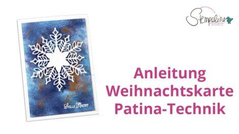 Weihnachtskarte Patina-Technik