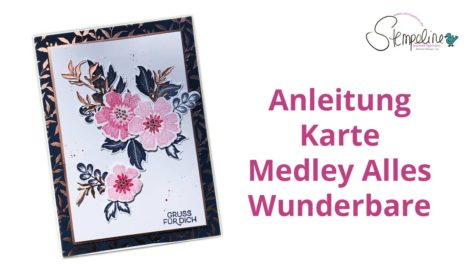 Anleitung Karte Produkt Medley Alles Wunderbare Stampin´ Up!